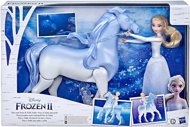 Set Frozen2 Cu Papusa Elsa  Si Nokk Spiritul Mitic