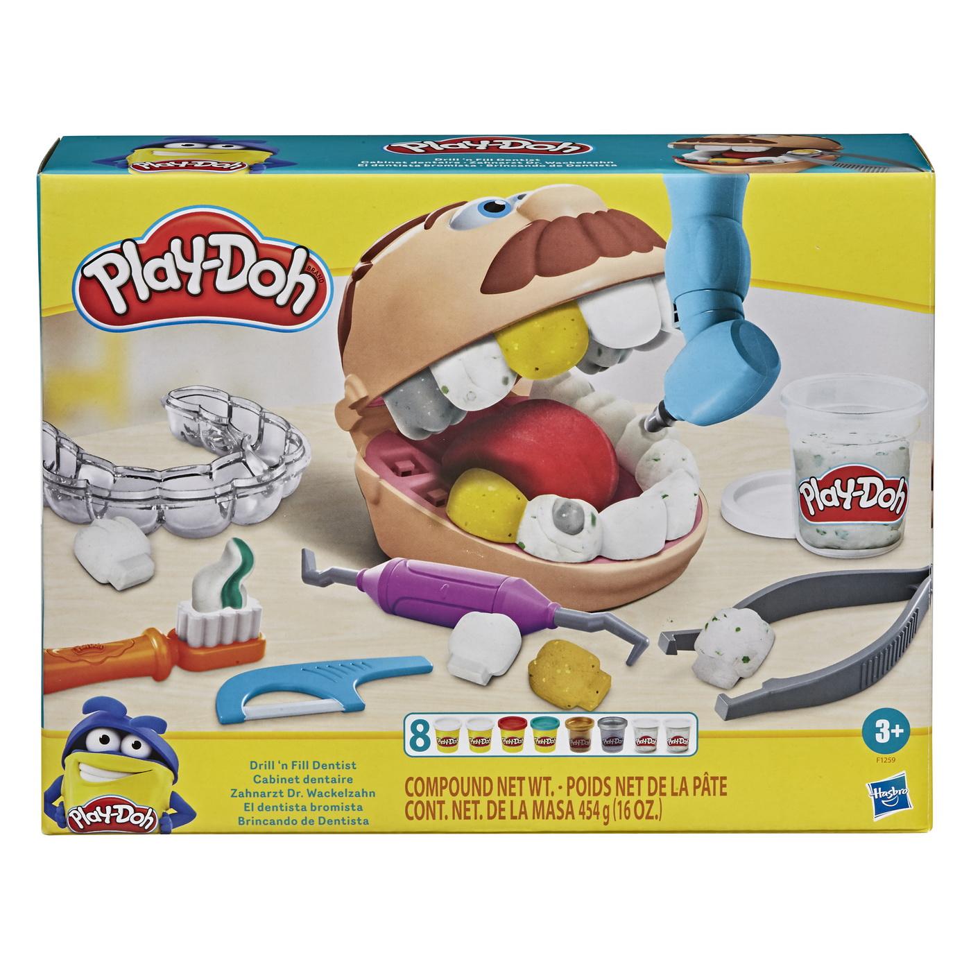 Play-doh Set Dentistul Cu Accesorii Si Dinti Colorati