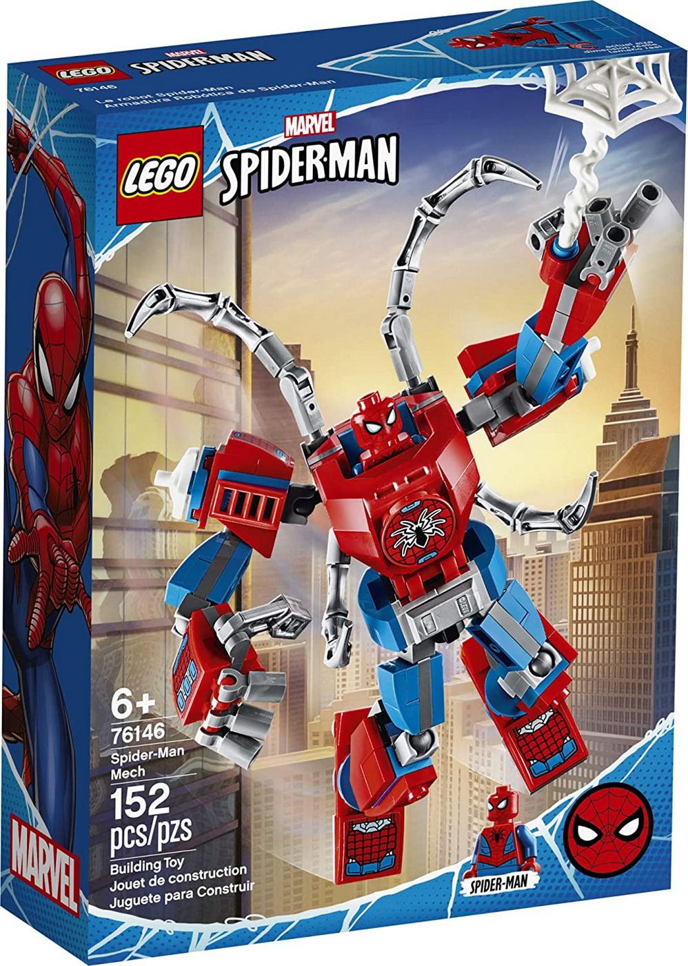 Lego Marvel Spider-man Robot Omul Paianjen 76146