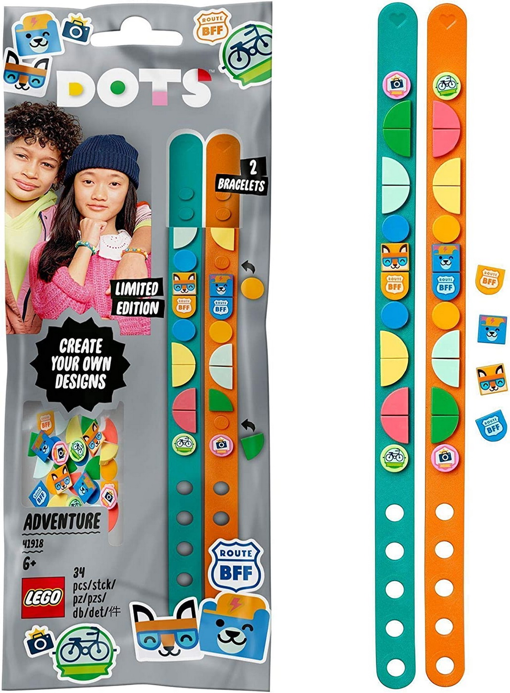 Lego Dots Bratari Aventuri Colorate 41918