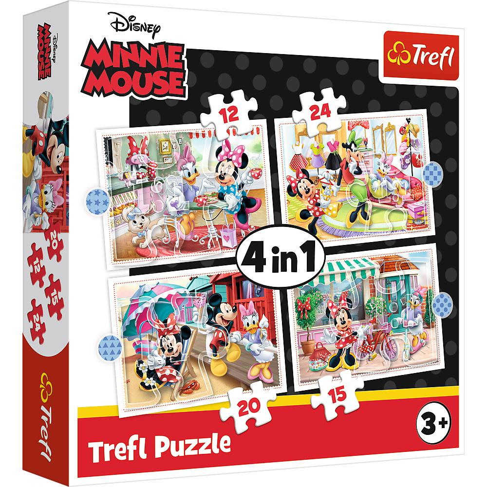 Puzzle Trefl 4in1 Minnie Mouse Si Prietenii Ei