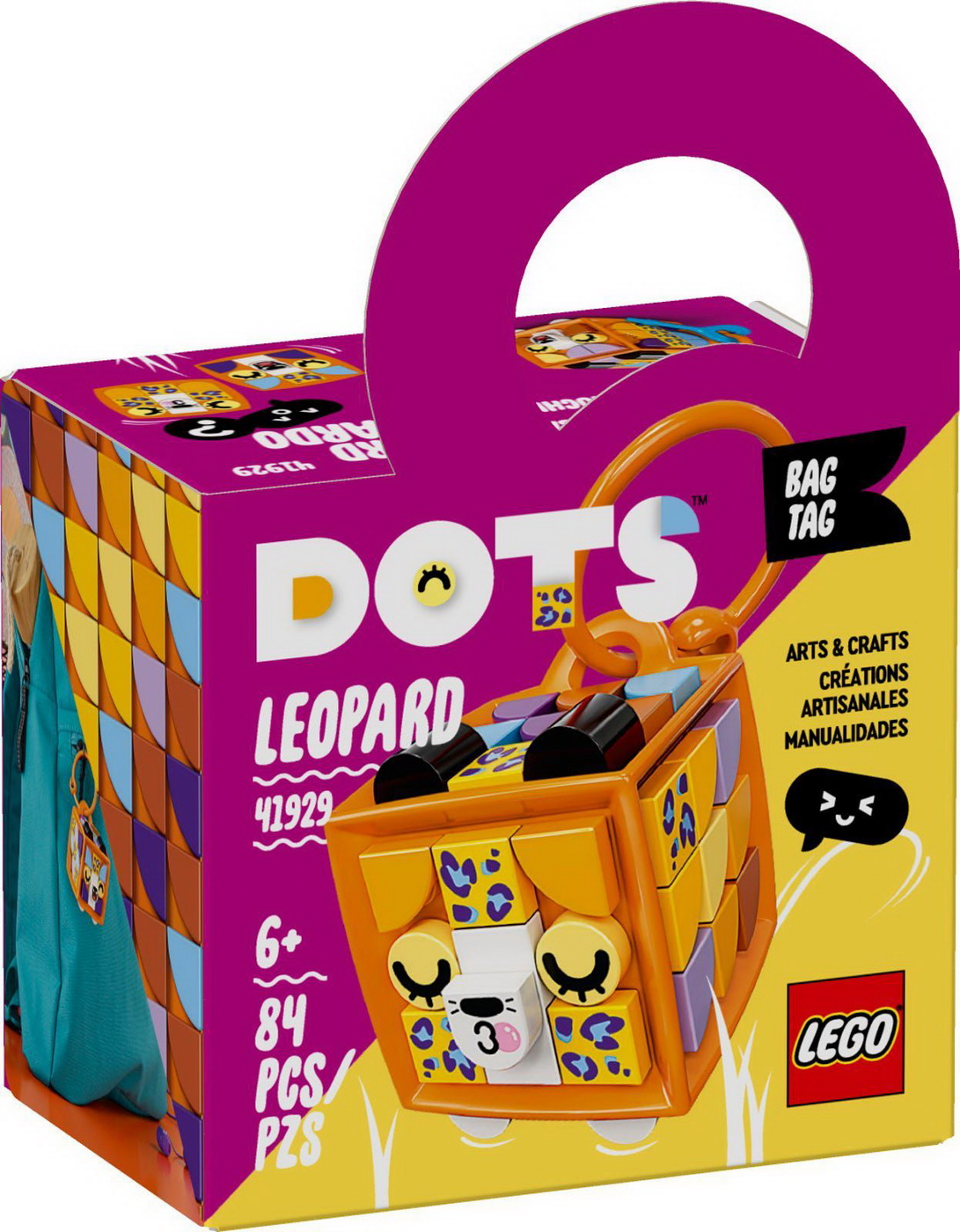 Lego Dots Leopard Ecuson De Bagaj 41929
