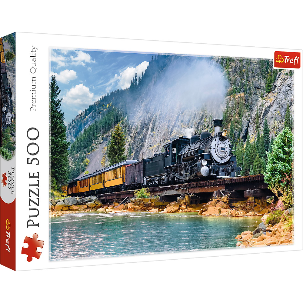 Puzzle Trefl 500 Tren Prin Munti