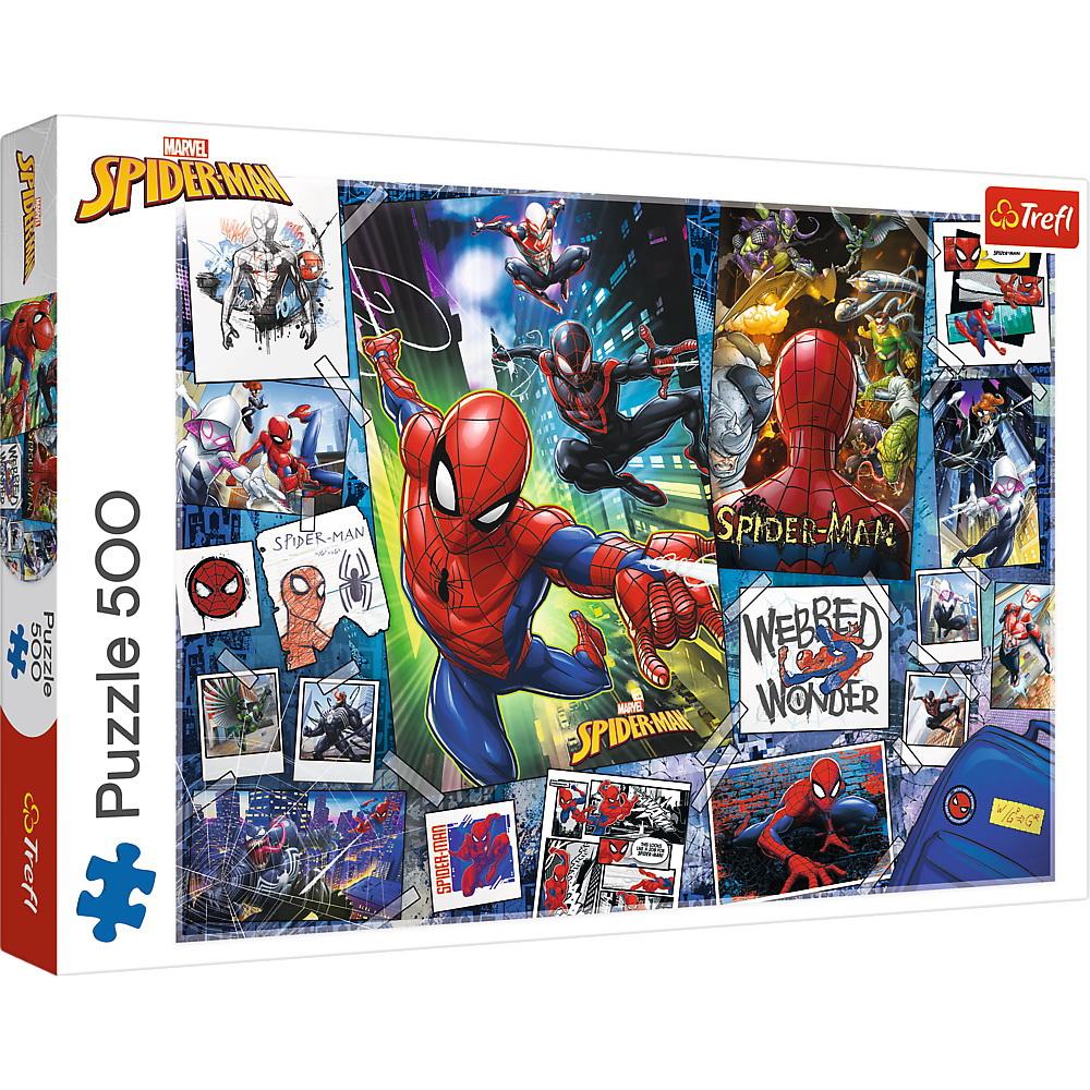 Puzzle Trefl 500 Poster Cu Spider-man Supereroul
