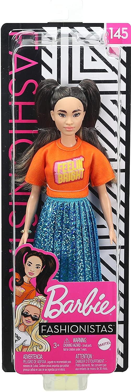 Papusa Barbie Fashionista Bruneta Si Cu Parul Cu Codite