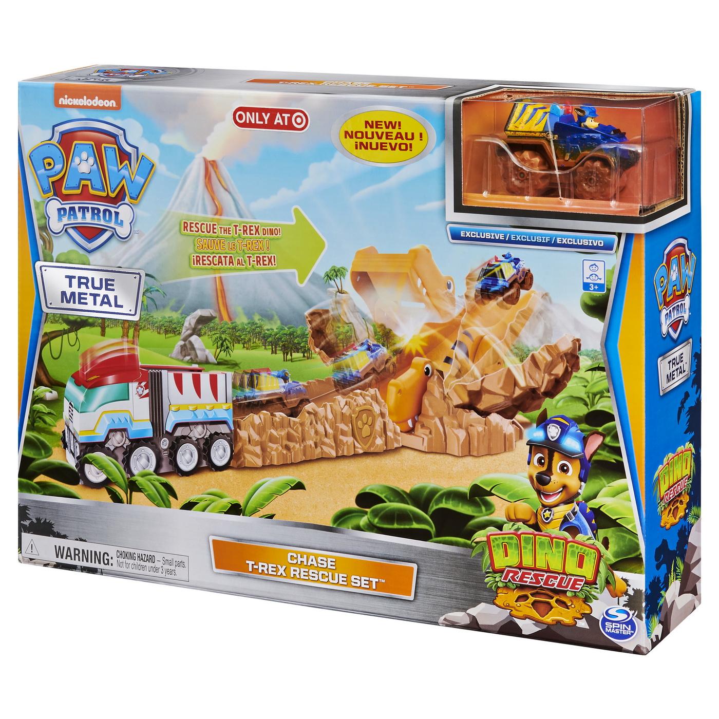 Patrula Catelusilor Setul Cu Pista De Salvare Chase Al Dinozaurului T-rex