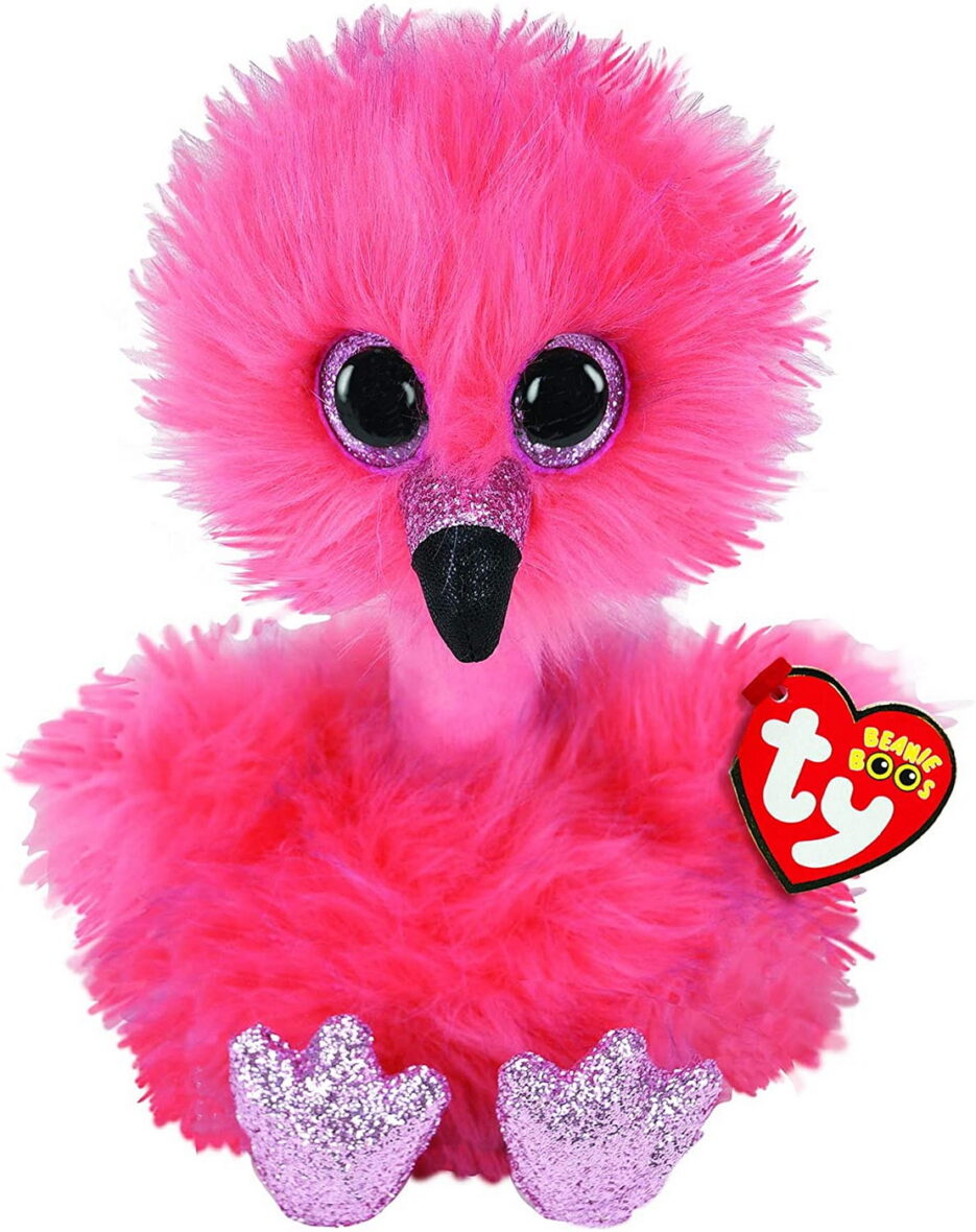 Plus Ty 24cm Flamingo Cu Gatul Lung