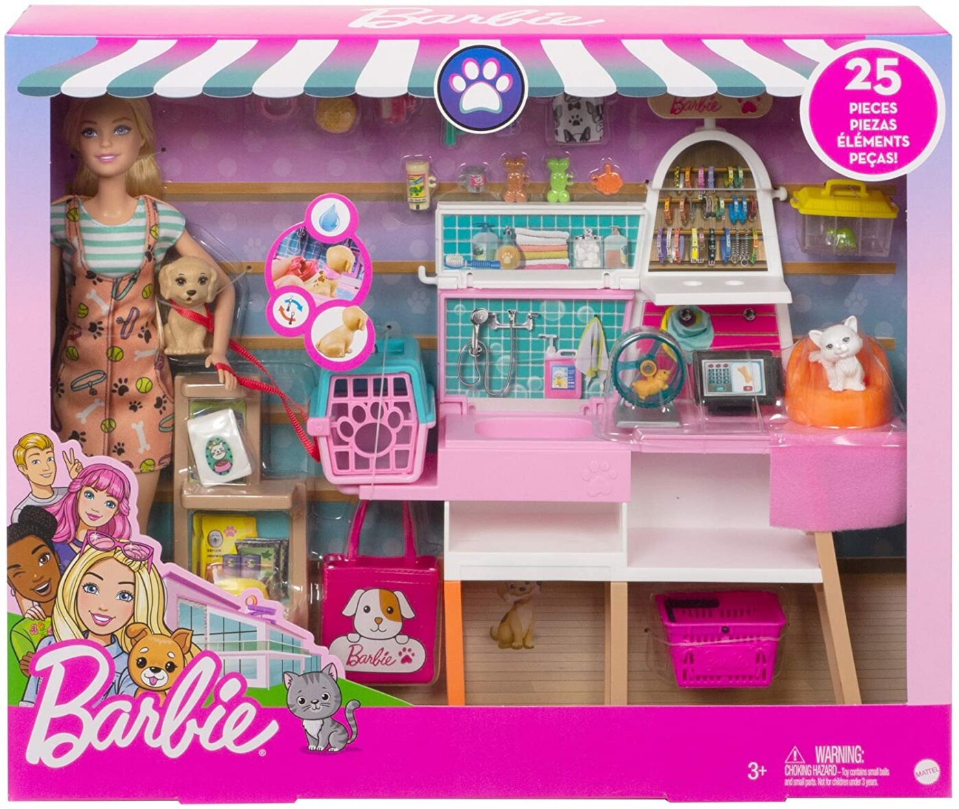 Barbie Set De Joaca Magazin Accesorii Animalute