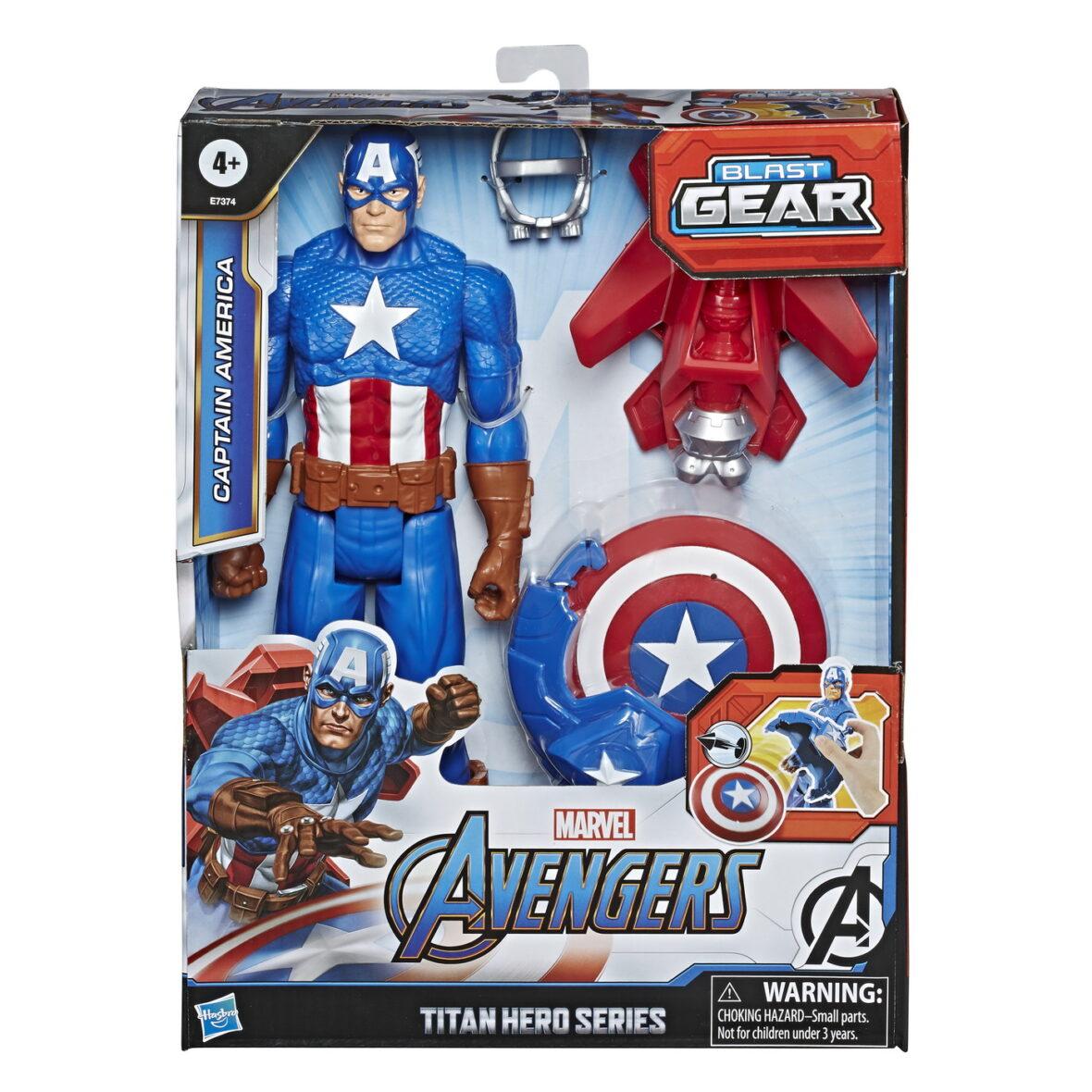Figurina Avangers Titan Hero Blast Gear: Captain America 30 Cm