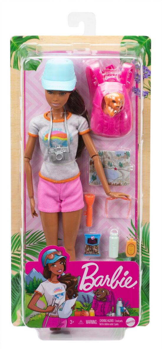 Barbie Set De Joaca In Drumetie Papusa Cu Accesorii