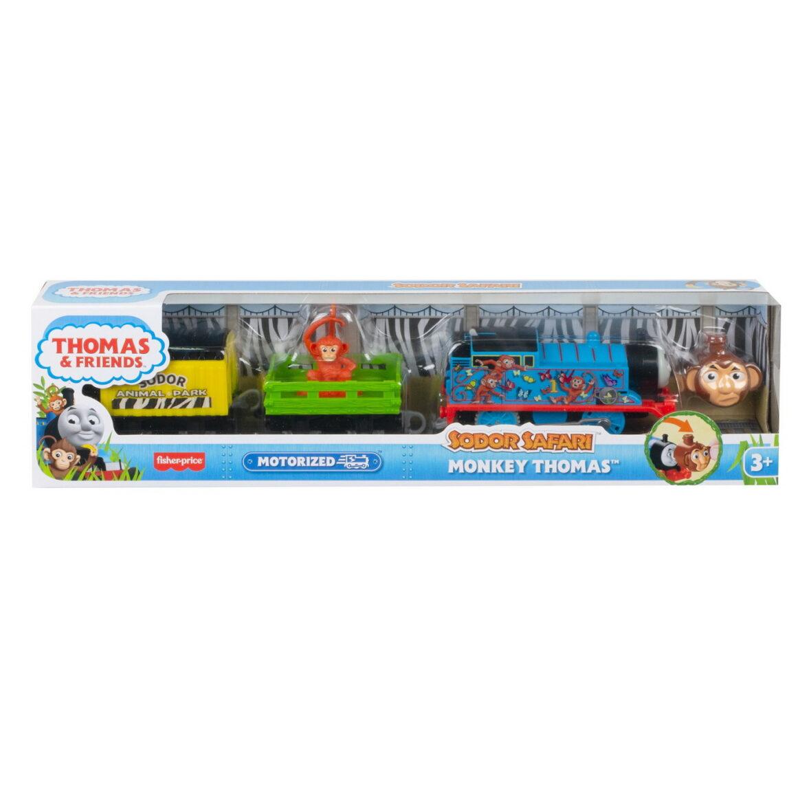 Thomas Locomotiva Motorizata Safari Monkey Thomas