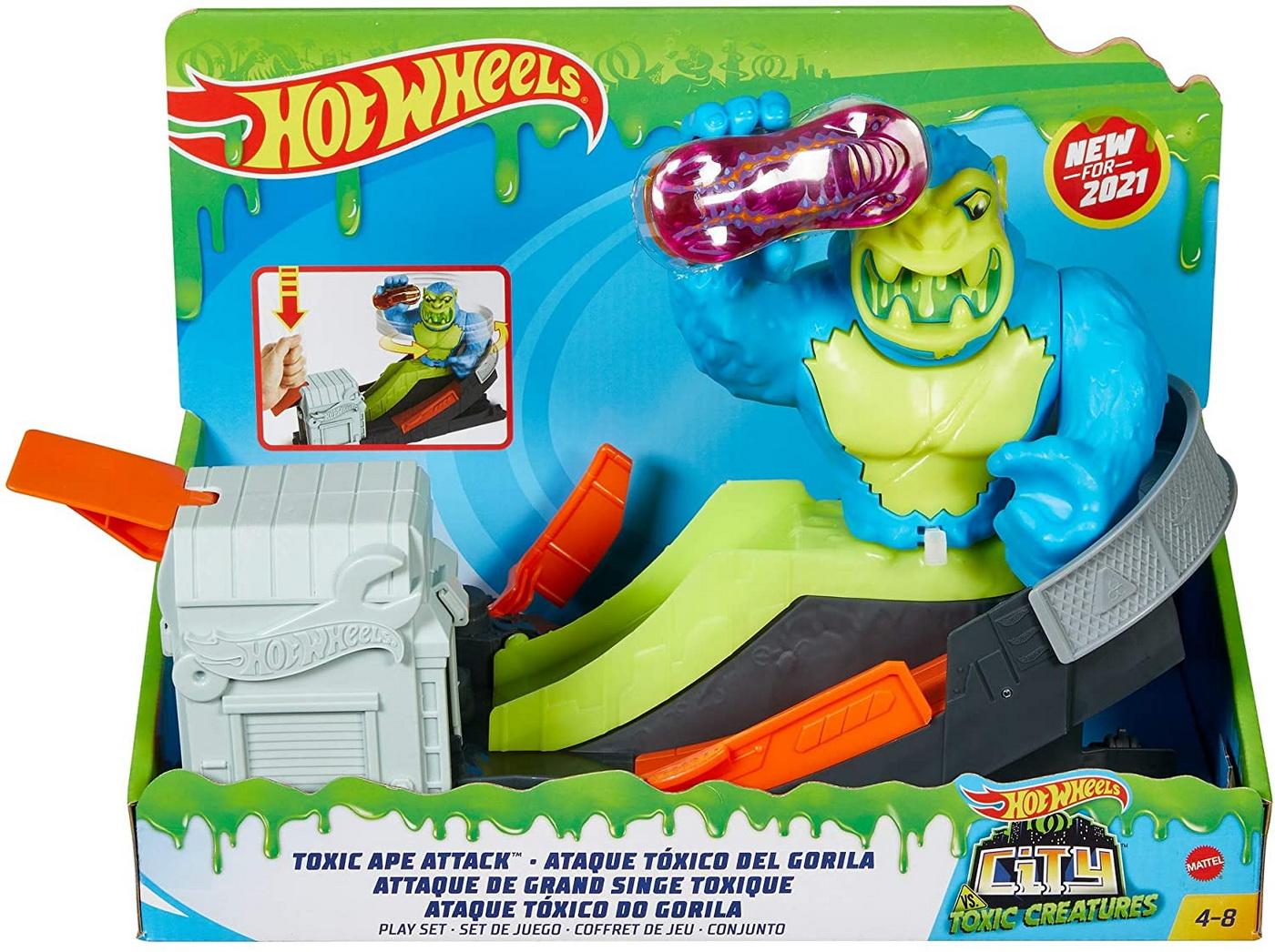 Hot Wheels City Cursa Cu Obstacol Atacul Gorilei