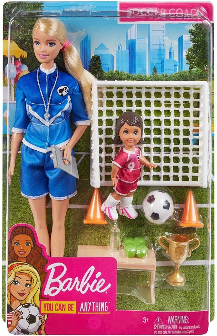 Barbie Papusa Cariere Set Sport Antrenor De Fotbal Blonda