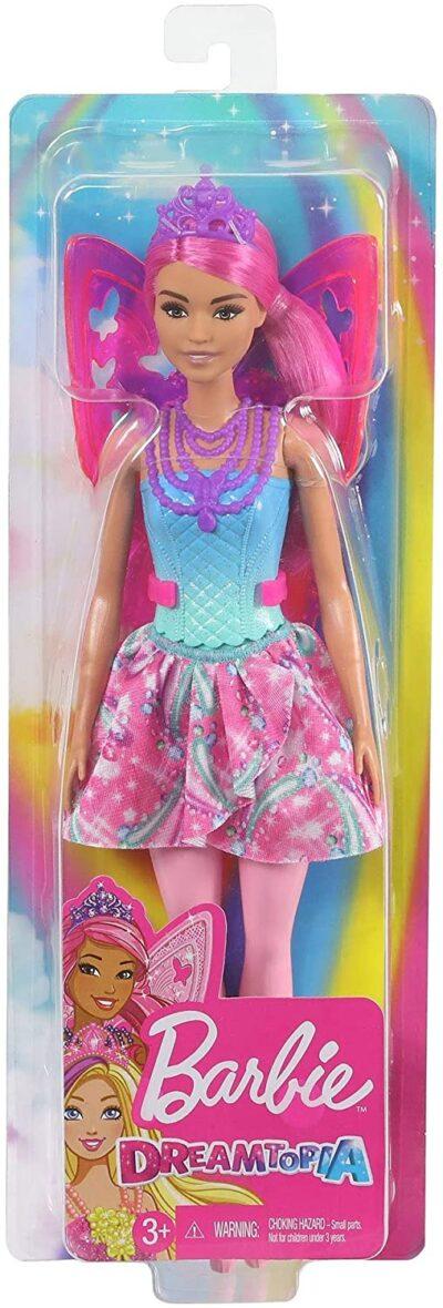 Barbie Papusa Printesa Dreamtopia Zane Cu Par Roz Si Aripi