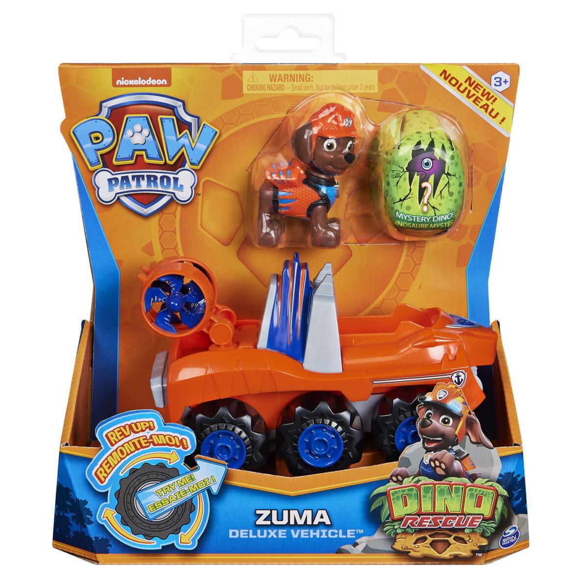 Patrula Catelusilor Set Vehicul Cu Catelus Zuma Si Figurina Dino Surpriza