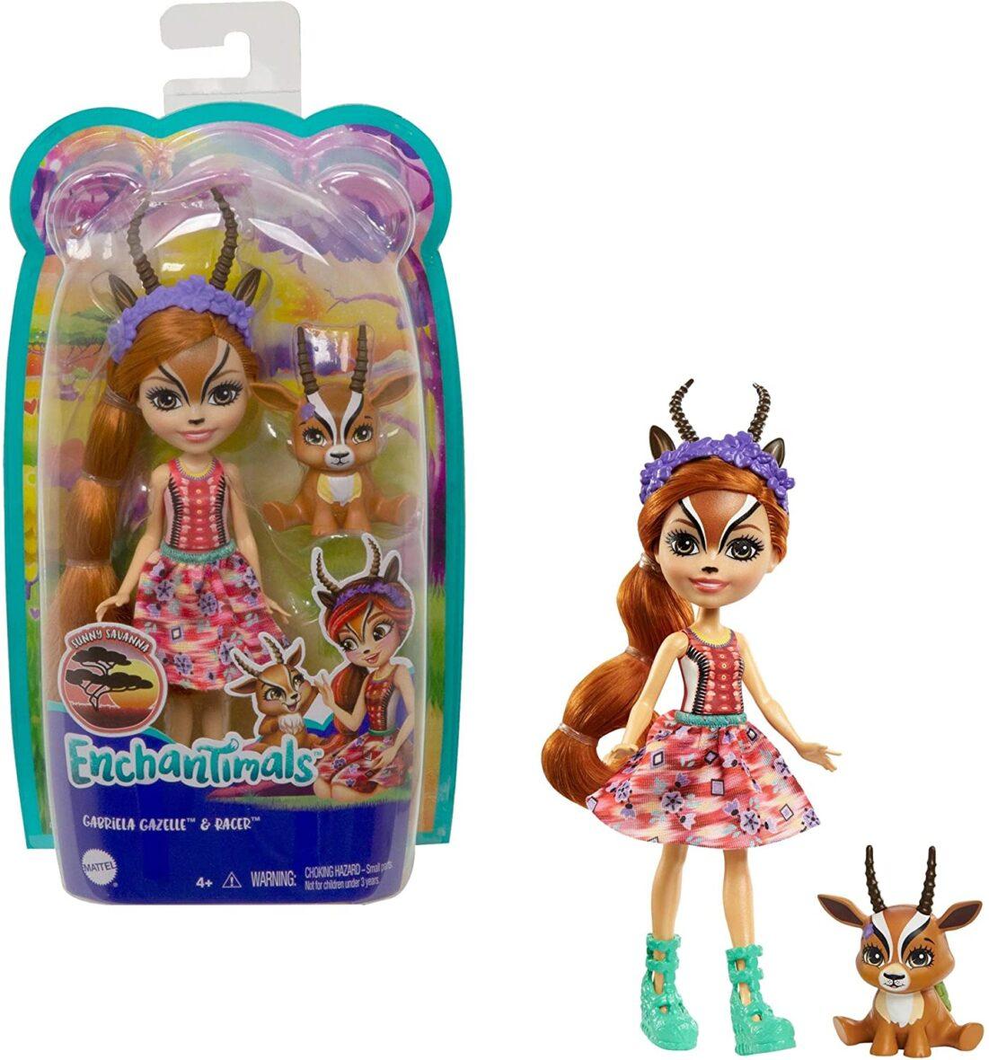 Enchantimals Papusi Si Animalute Gabriela Gazelle & Racer