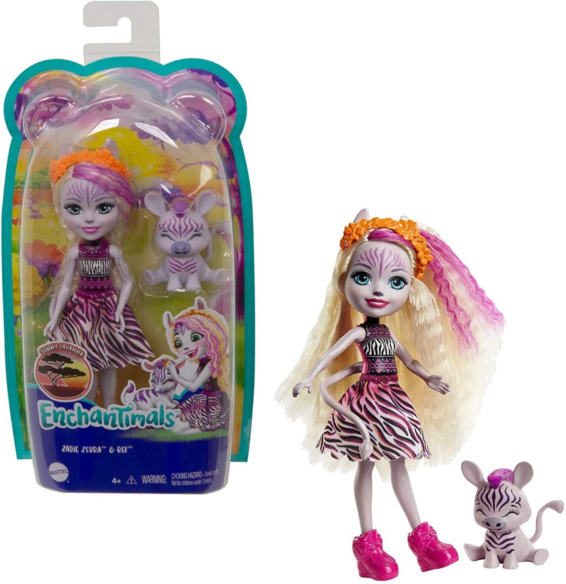 Enchantimals Papusi Si Animalute Zadie Zebra & Ref