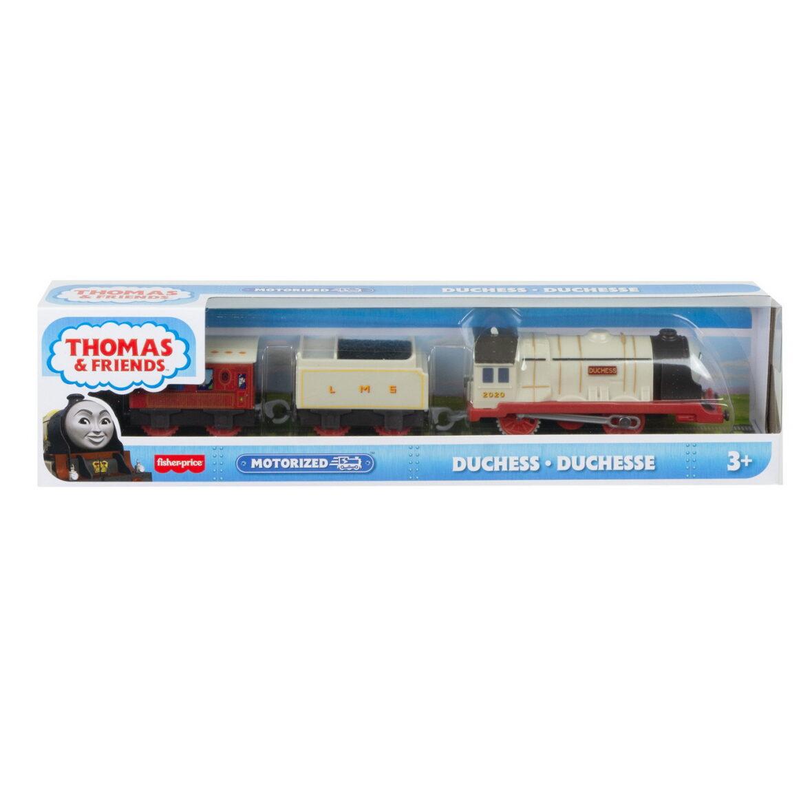 Thomas Locomotiva Motorizata Personajul Ducele Cu 2 Vagoane Si Accesorii