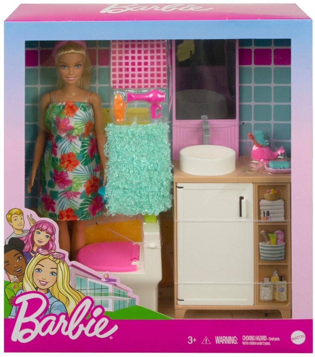 Barbie Papusa Si Accesorii Baie
