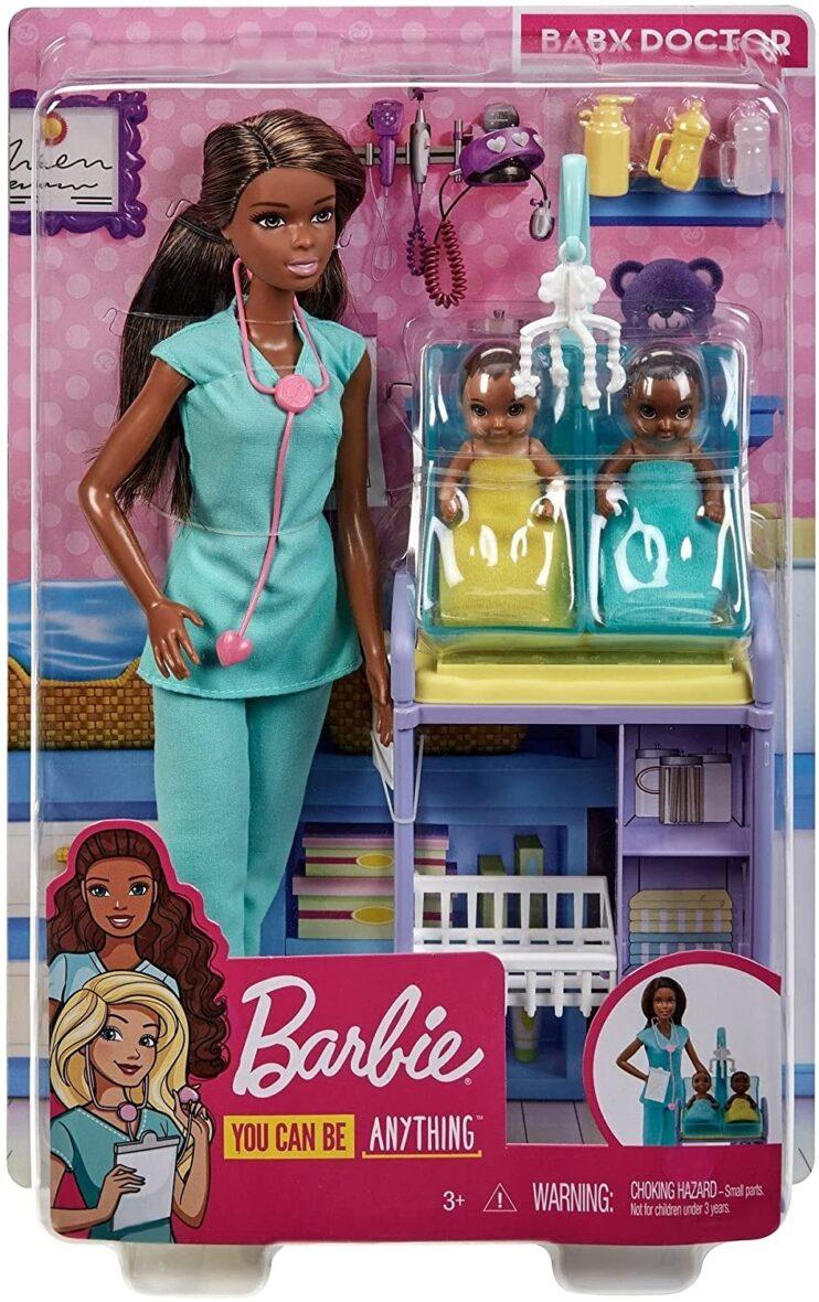Barbie Cariere Set Cu Papusa Doctor Pediatru