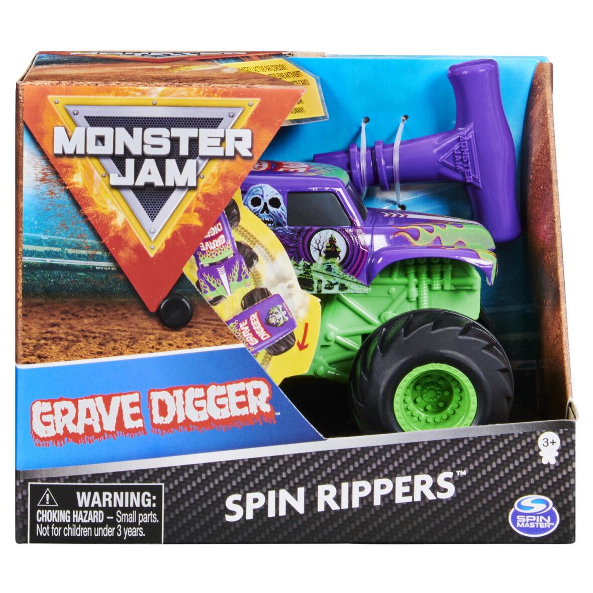 Monster Jam Grave Digger Seria Spin Rippers Scara 1 La 43