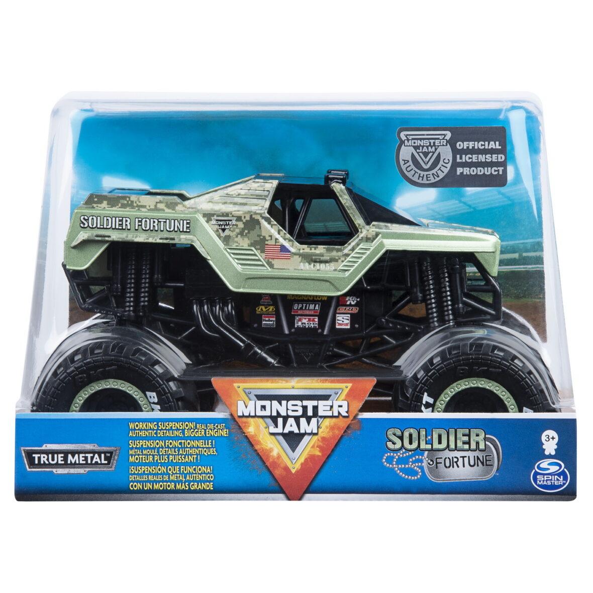Monster Jam Macheta Metalica Scara 1 La 24  Soldier Fortune
