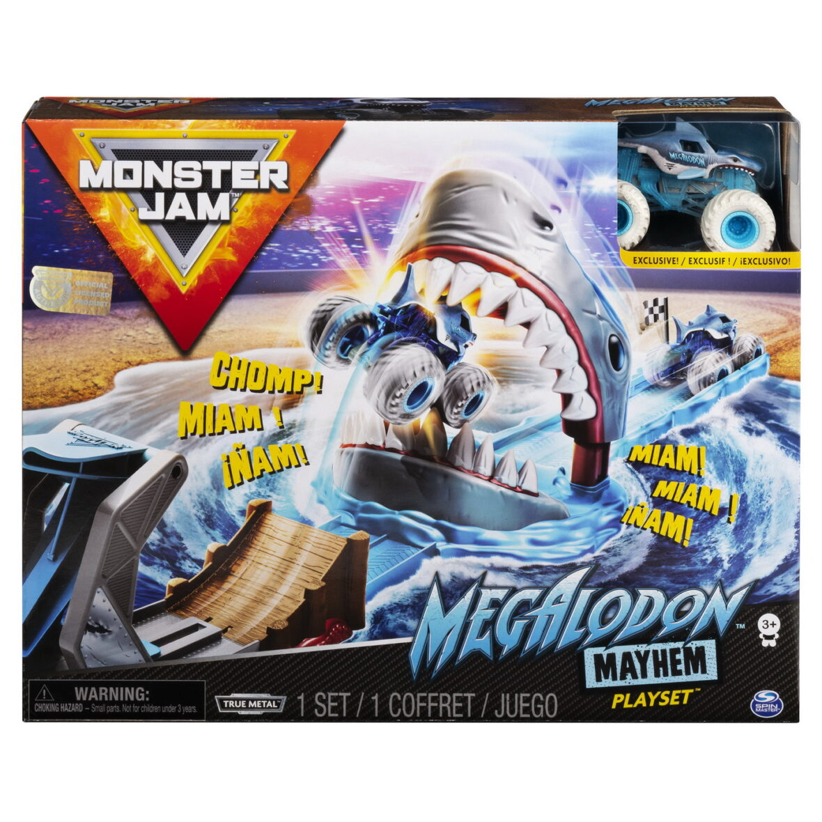 Monster Jam Set Cascadorii Megalodon Mayhem
