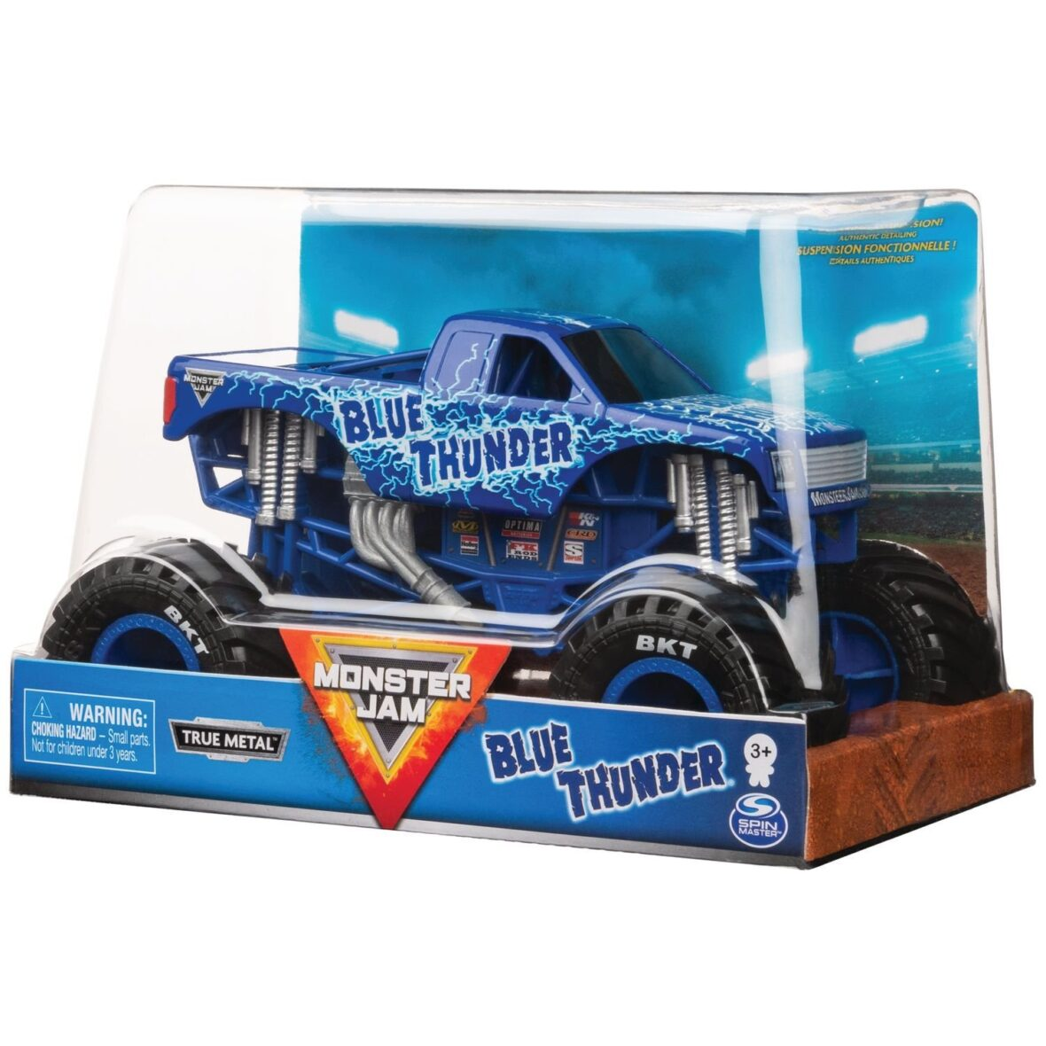 Monster Jam Machete Metalice Scara 1 La 24 Blue Thunder