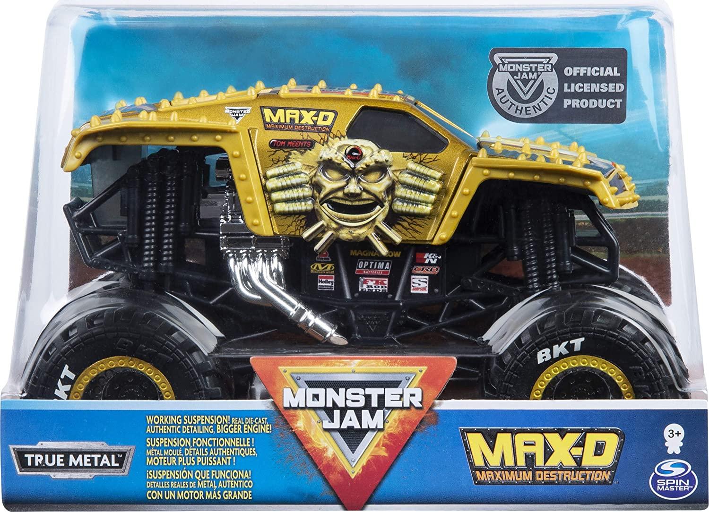 Monster Jam Machete Metalice Scara 1 La 24 Maximum Destruction Max-d