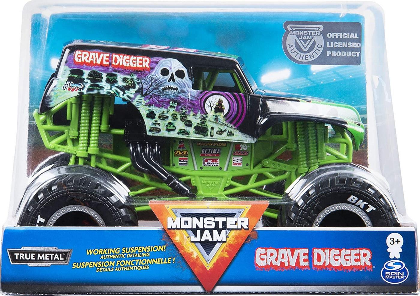 Monster Jam Macheta Metalica Scara 1 La 24 Grave Digger