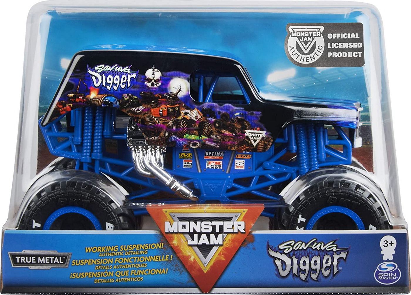 Monster Jam Macheta Metalica Scara 1 La 24 Son-uva Digger