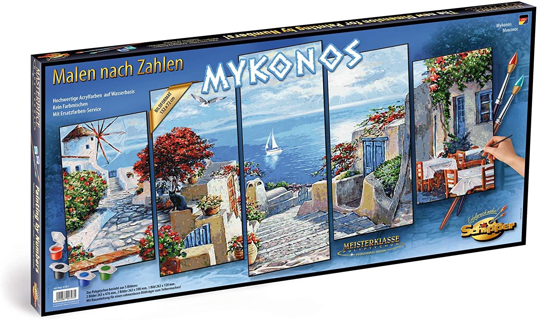 Kit Pictura Pe Numere Schipper Mykonos, 5 Tablouri