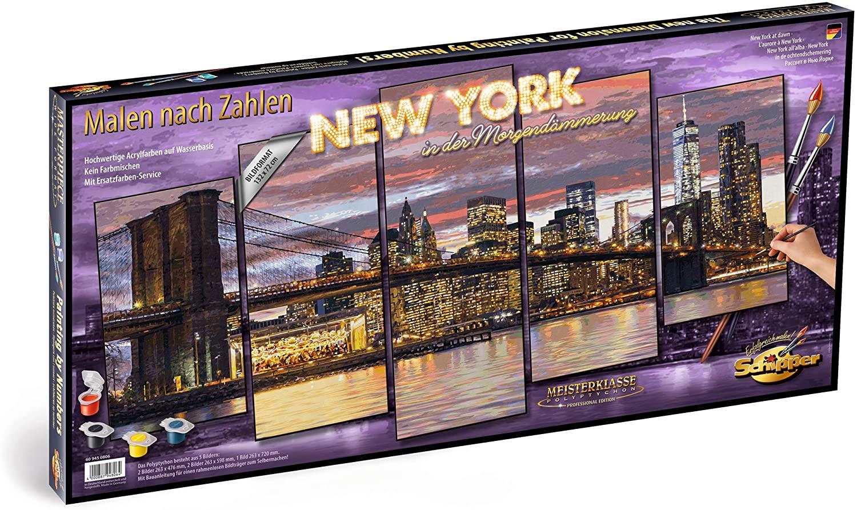 Kit Pictura Pe Numere Schipper New York, 5 Tablouri