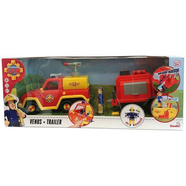 Fireman Sam Venus Cu Remorca Si Figurina
