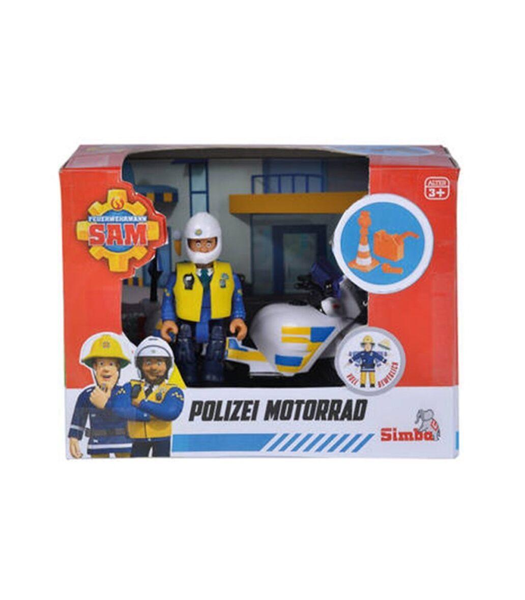 Sam Police Motocicleta Figurina