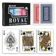 Set 2 Pachete Carti Royal Canasta Poker Din Plastic