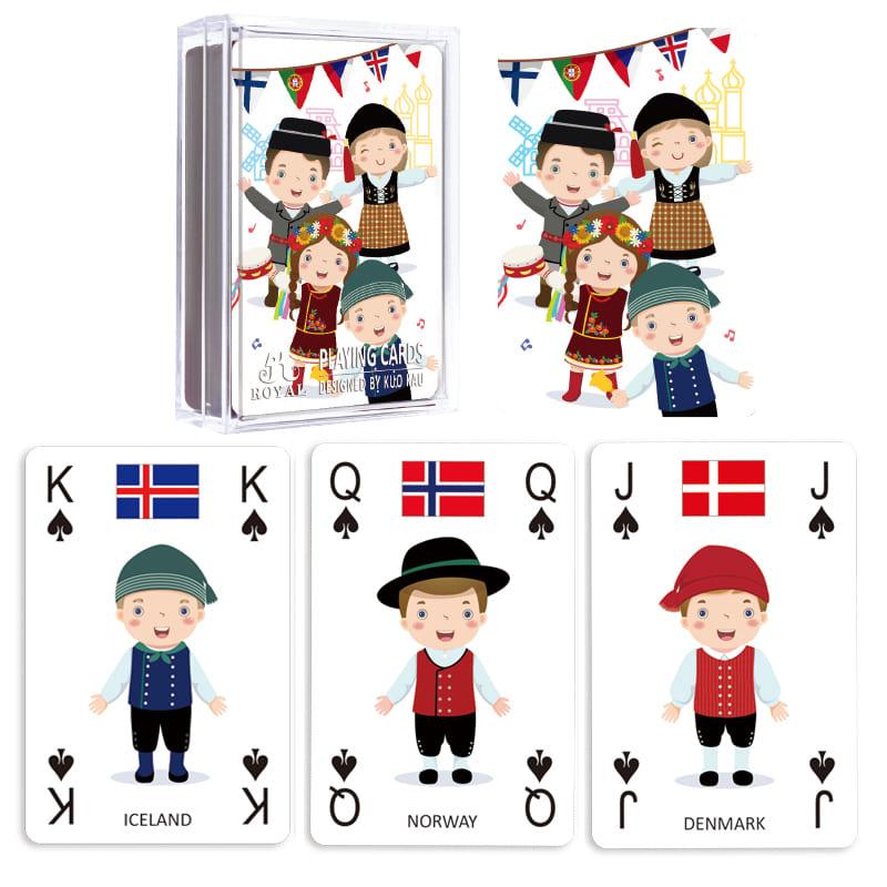 Carti De Joc Royal Din Plastic Educative 3in1 Invata Despre Tarile Europei
