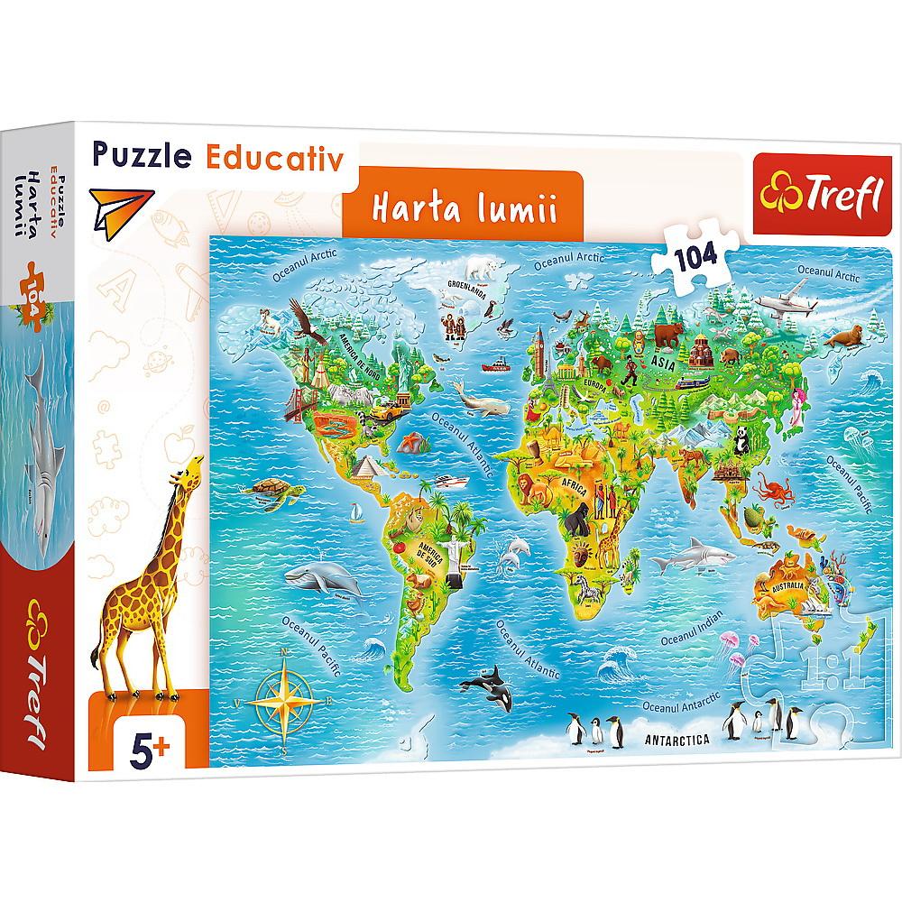 Puzzle Educational Harta Lumii