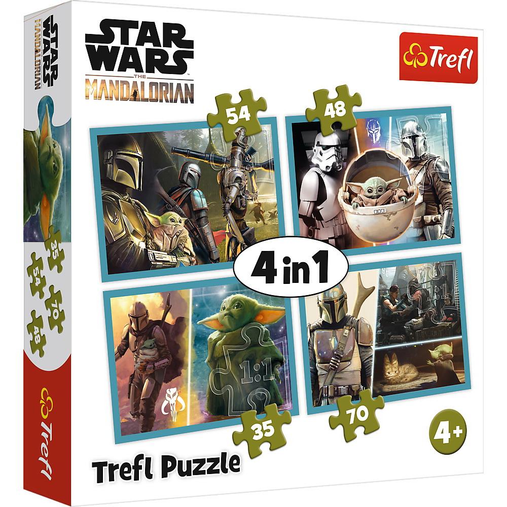 Puzzle 4in1 Mandalorian Si Lumea Lui