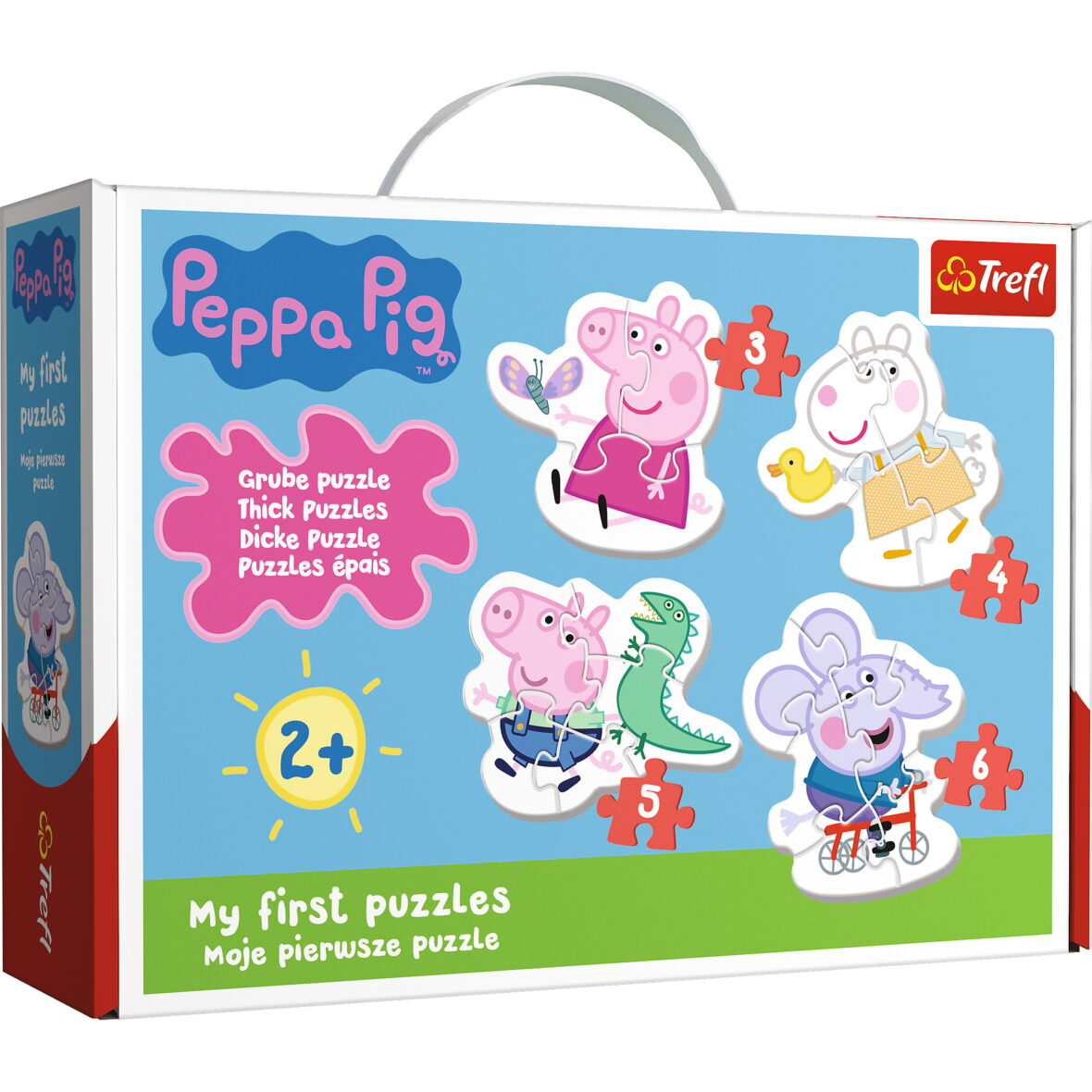 Puzzle Baby Clasic Simpatica Peppa Pig 18 Piese