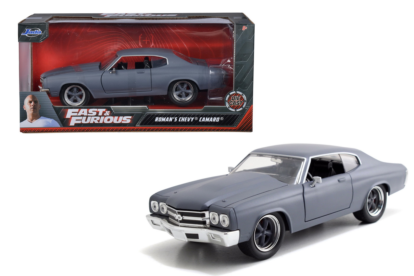 Masinuta Metalica Fast And Furious Roman's Chevy Camaro Scara 1:24
