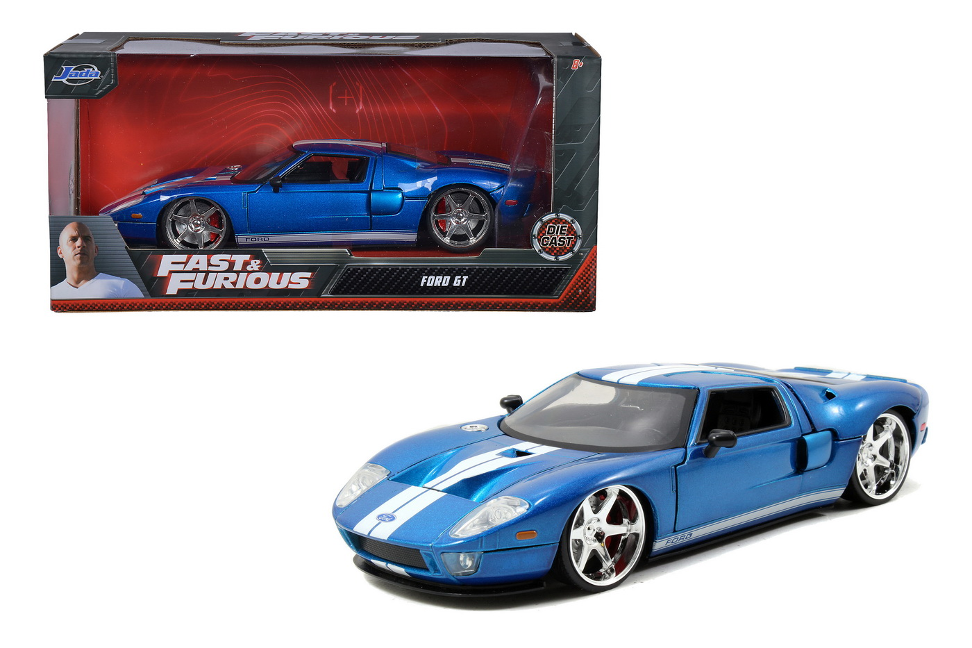 Masinuta Fast And Furious 2005 Ford Gt Scara 1:24