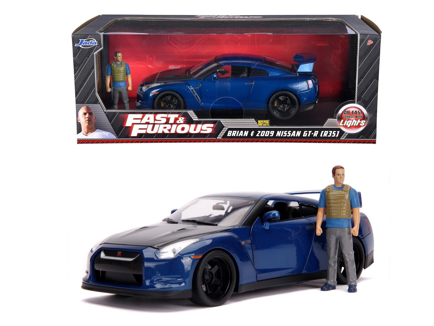 Masinuta Metalica Fast And Furious Nissan Skyline Scara 1:18
