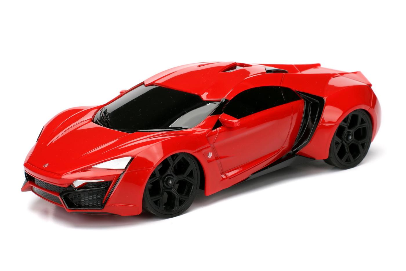 Masinuta Metalica Cu Telecomanda Fast Furious Rc Lykan Hypersport Scara 1:24