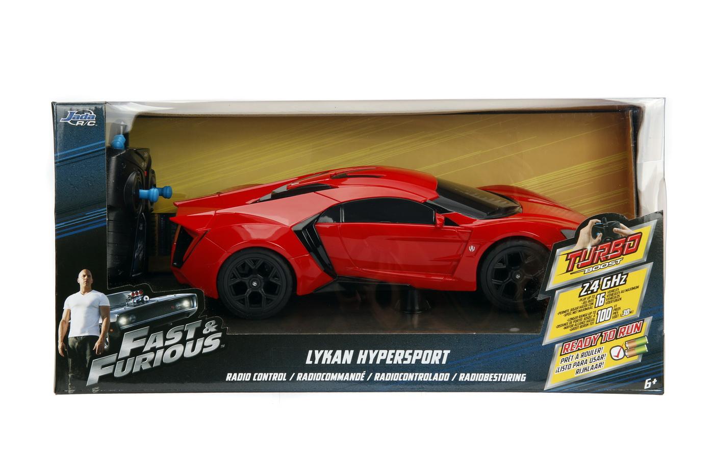 Masinuta Metalica Cu Telecomanda Fast Furious Rc Lykan Hypersport Scara 1:16