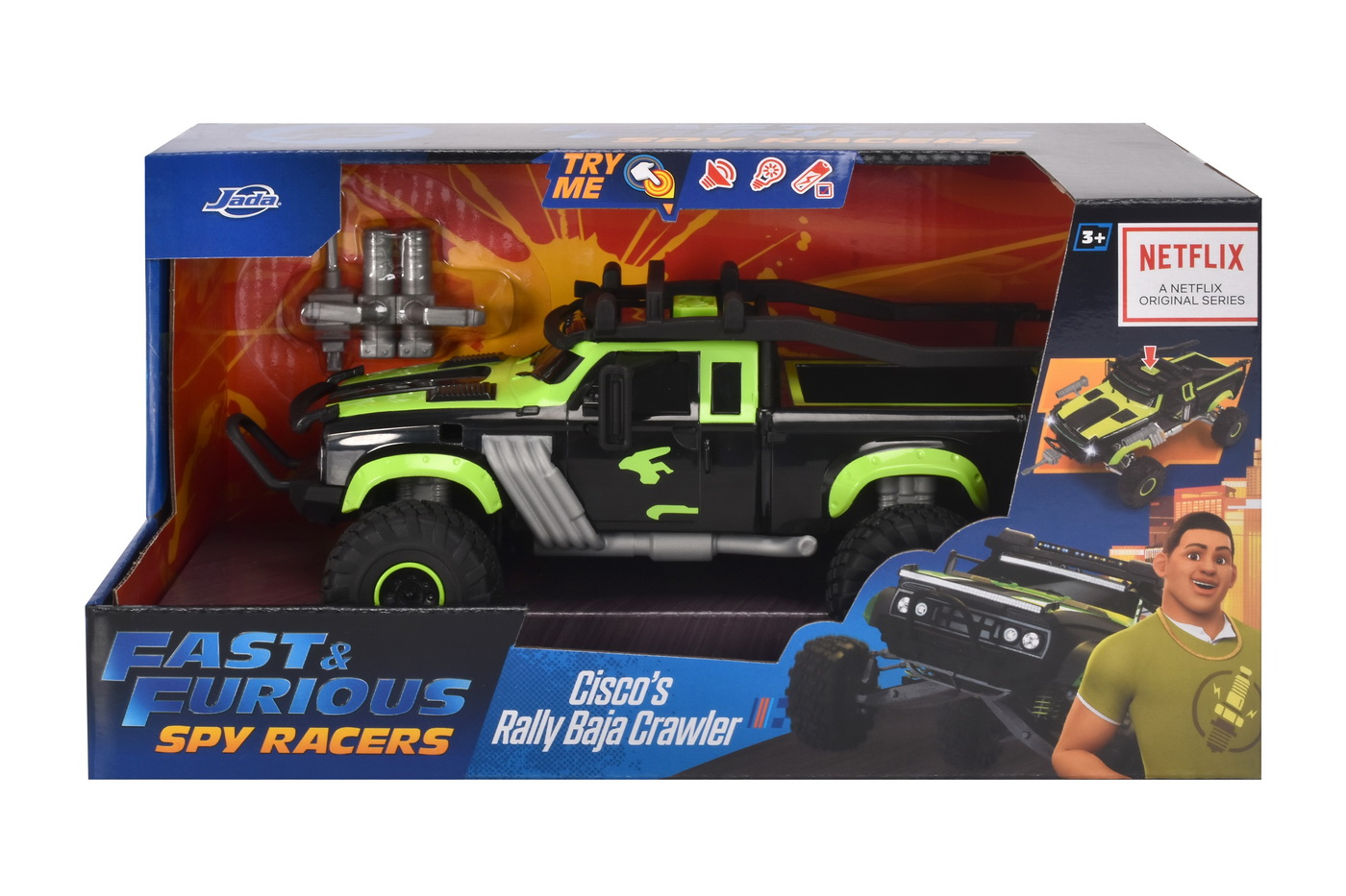 Masinuta Metalica Fast And Furious Spy Racers Cisco's Rally Baja Crawler Scara 1:24