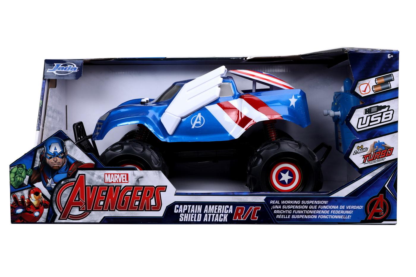 Masinuta Cu Telecomanda Marvel Rc Captain America Scara 1:14
