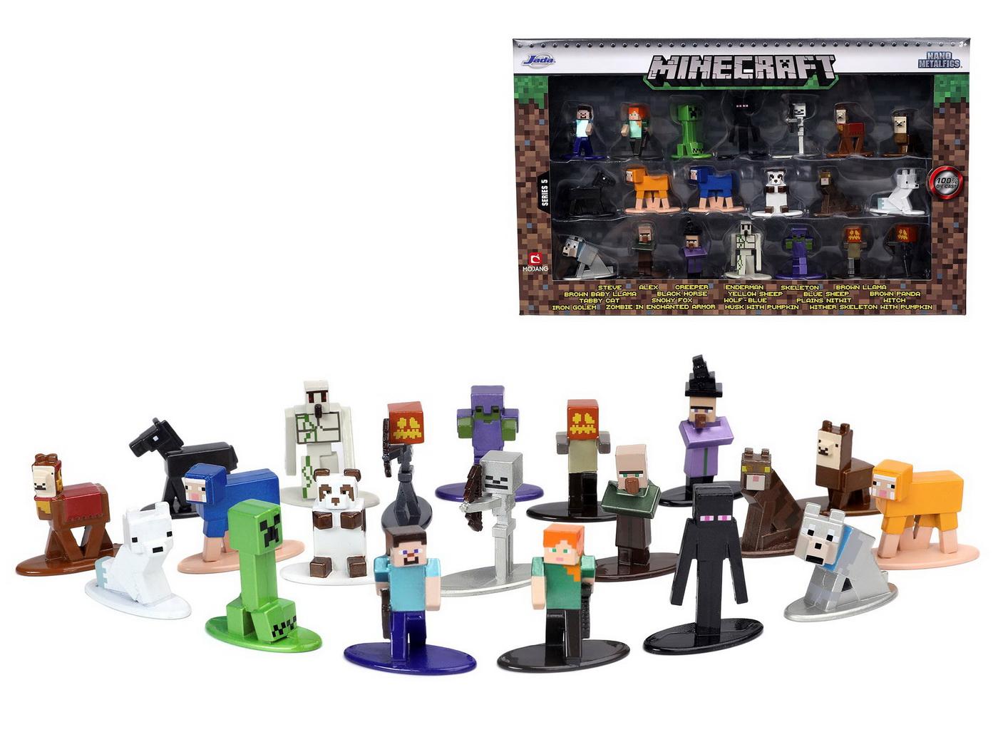 Set 20 Figurine Metalice Minecraft 4 Cm