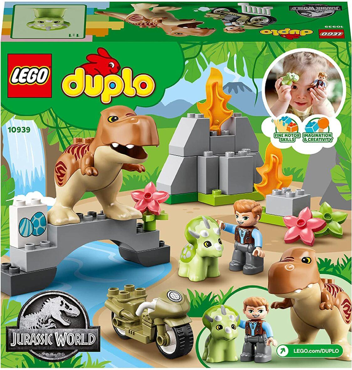 Lego Duplo  Evadarea Dinozurilor T. Rex Si Triceratops 10939