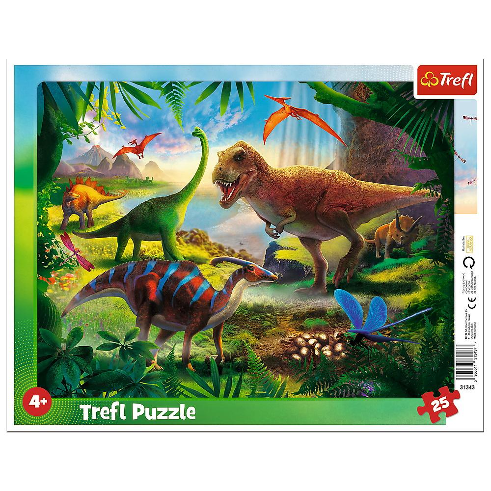 Puzzle 25 Plansa Dinozauri